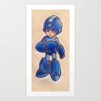 megaman Art Prints featuring MegaMan  by charalanahzard