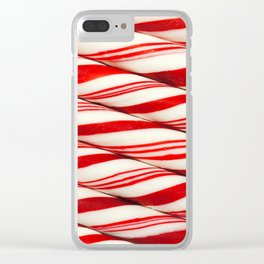 Candy Cane Pattern Clear iPhone Case