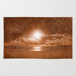 Acrylic Jersey Sunset - Sepia Fantasy Rug