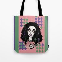 charli xcx Tote Bags featuring Nuclear Lover -Charli XCX by Julio César