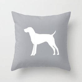 German Shorthair Pointer dog breed pet portraits dog silhouette unique dog breeds Throw Pillow