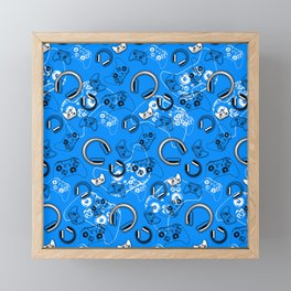 Gamers-Blue Framed Mini Art Print