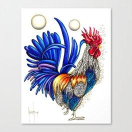 Gallo de las dos lunas Canvas Print