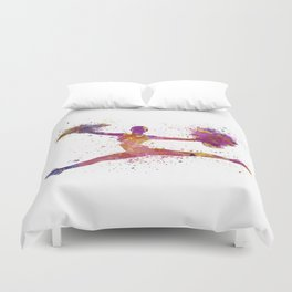 young woman cheerleader Duvet Cover
