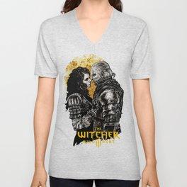 Geralt and Yennefer Unisex V-Neck