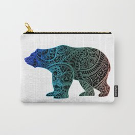 Colorful Rainbow Bear - III Carry-All Pouch