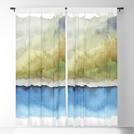 Green by the Sea Blackout Curtain