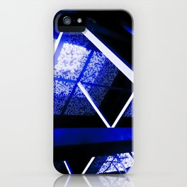 Crazy Blue Lines iPhone Case