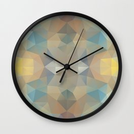Triangles design in pastel colors Wall Clock