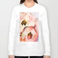 peonies Long Sleeve T-shirts featuring Peonies by Lucy Ortiz
