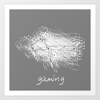 gaming Art Prints featuring gaming by K_REY_C