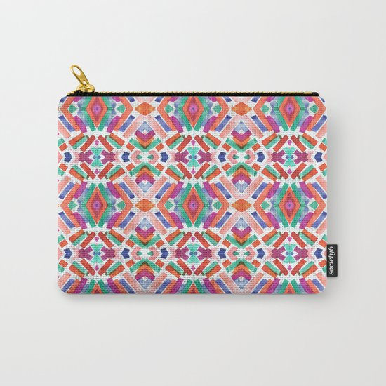 Watercolor Boho Dash 3 Carry-All Pouch