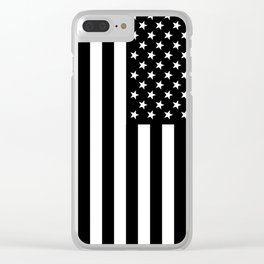 Black And White Stars And Stripes Clear iPhone Case