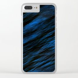 Blue abstract pattern background Clear iPhone Case