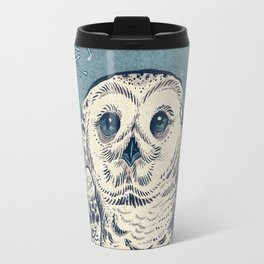 Winter Snowy Owl Travel Mug