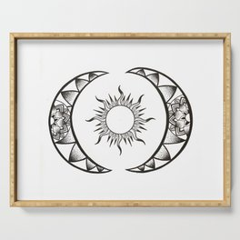 Sun and Moon Serving Tray