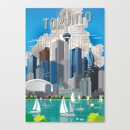 Toronto Skyline wide Canvas Print