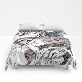 Wheat Tiger Chimera Comforters