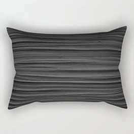 Black Smooth Texture (Black and White) Rectangular Pillow