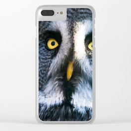 Great Grey Owl Clear iPhone Case