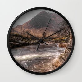 Bridge over the River Etive Wall Clock