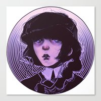 goth Canvas Prints featuring shoujo goth by Frank Odlaws