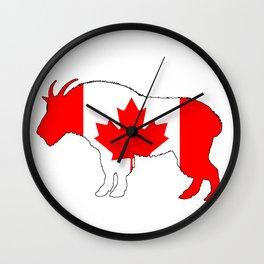 "Goat ""Canada"" Wall Clock"