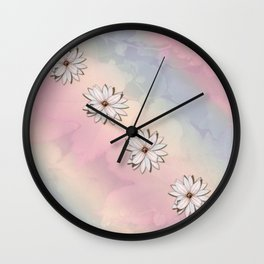 lily-white Wall Clock