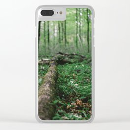 Forest Log Clear iPhone Case