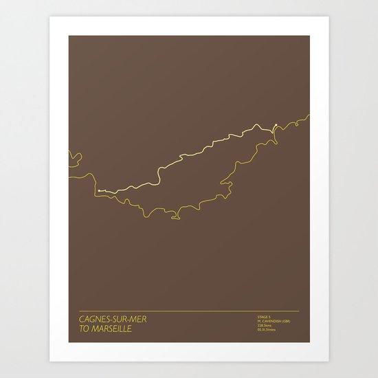 Le Tour De France 2013 Stage 5 Minimal Poster Art Print