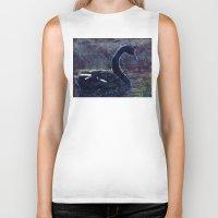 black swan Biker Tanks featuring Black swan by jbjart