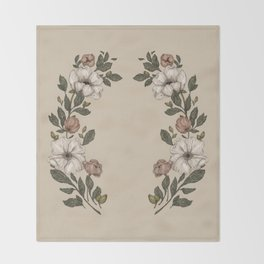 Floral Laurel Throw Blanket