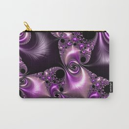 Silken Purple Swirling Fractal Carry-All Pouch