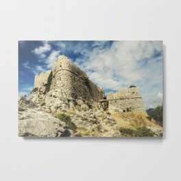 Stari Grad - Fortica - the ruins of pirate fortress above the town of Omis Metal Print