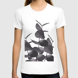 Eucalyptus Leaves Black White #1 #foliage #decor #art #society6 T-shirt
