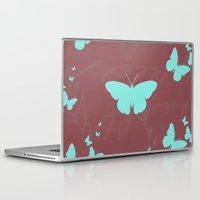 butterflies Laptop & iPad Skins featuring Butterflies by Yasmina Baggili