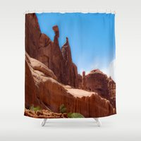 giants Shower Curtains featuring Giants - Moab, Utah by Susy Margarita Gomez