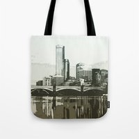 melbourne Tote Bags featuring Melbourne by dkazbar