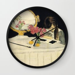 Henri Matisse - The Painting Lesson - Exhibition Poster Wall Clock