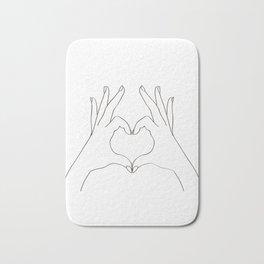 Love Heart Bath Mat