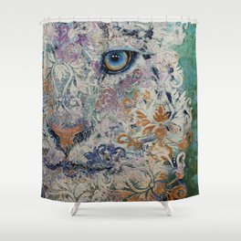 Royal Snow Leopard Shower Curtain