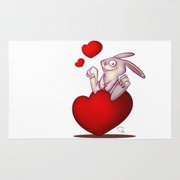My Digital Zoo - Love bunny - Valentine Speciall Rug