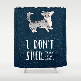 Corgi Glitter - Cardigan Welsh Corgi Shower Curtain