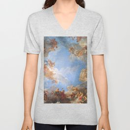 Fresco in the Palace of Versailles Unisex V-Neck