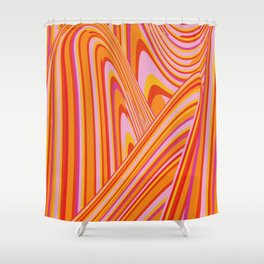 Wave Series p5 Shower Curtain