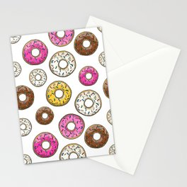 Funfetti Donuts - White Stationery Cards