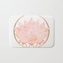 Blush Zen Lotus ~ Metallic Accents Bath Mat