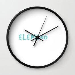 """Elemeno Mens Grammar Sarcastic"" tee design for grammar addict. Show your funny side now!  Wall Clock"