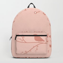 A Bird Sitting On A Branch Backpack