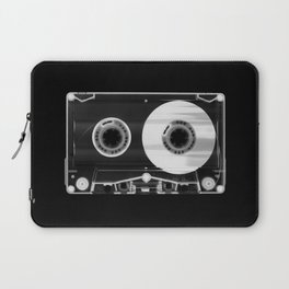 Black and White Retro 80's Cassette Vintage Eighties Technology Art Print Wall Decor from 1980's Laptop Sleeve
